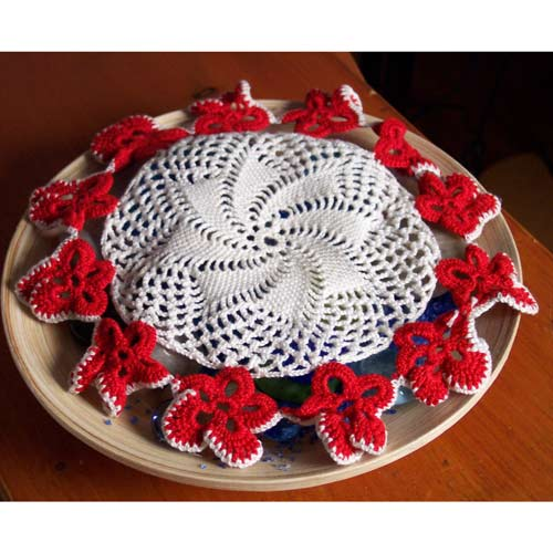 Net Stitch Flower Doily - JPF Crochet Club where Crocheting is